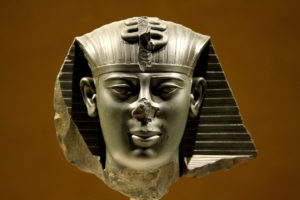 Head of a statue of Pharaoh Amasis, 26th dynasty, Late Period, Ancient Egypt, approx. 550 B.C.