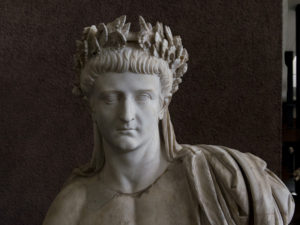Detail of statue of Tiberius in the Vatican's Museo Gregoriano Profano.