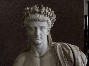 Detail of statue of Tiberius in the Vatican's Museo Gregoriano Profano.