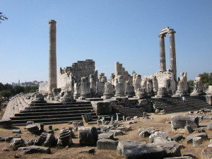 The ruins of the Temple of Apollo at Branchidae.