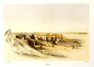 The Ruins of Sais (where Amasis ruled from),  Karl Richard Lepsius (1810–1884)