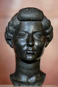 Bust of Livia, Tiberius' mother, c. 31 BC. Louvre, Paris.