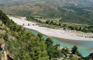 The Aoös river near Tepelena, Albania.