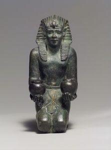 Kneeling statuette of King Amasis, New York Met Museum
