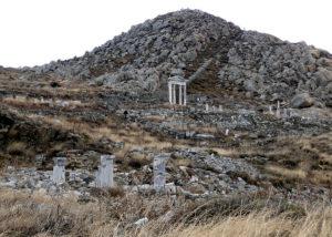 Mount Cynthus in Delos, Greece
