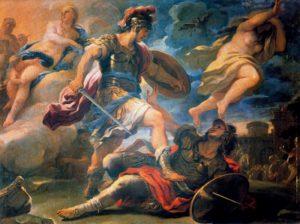 Aeneas defeats Turnus, Luca Giordano (1634-1705)
