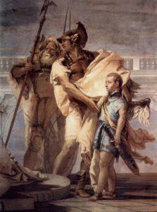 Aeneas Introducing Cupid Dressed as Ascanius to Dido, Giovanni Battista Tiepolo (1757)