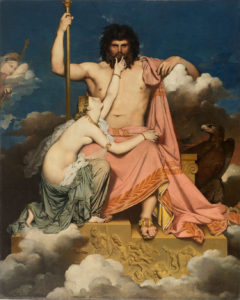 Jupiter and Thetis, 1811, Jean Auguste Dominique Ingres.