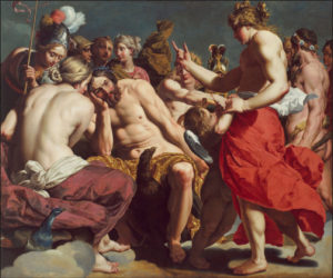 Jupiter rebuked by Venus, Abraham Janssens (c.1612-13)