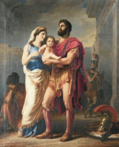 The Farewell of Hector to Andromaque and Astyanax, by Karl Friedrich Deckler (c.1918)