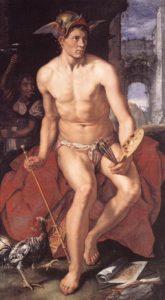 Mercury, with his symbols, by Hendrik Goltzius (1611)