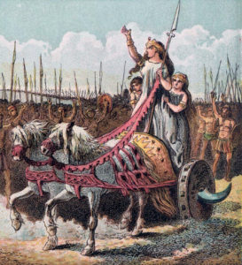Boadicea (Boudica) and her army