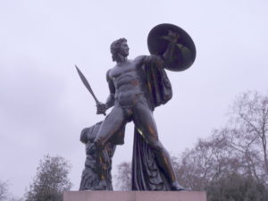Statue of Achilles, by Richard Westmacott (1822) on the Wellington Monument at Hyde Park Corner, London.