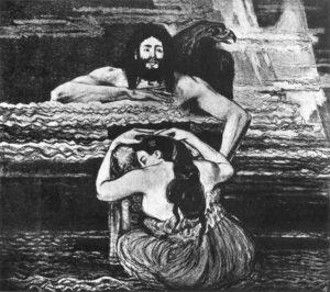 Thetis at Zeus's, Stanislaw Wyspianski (c.1896)