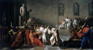 La morte di Cesare by  Vincenzo Camuccini (1804-5)