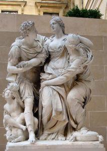 Arria et Paetus, sculpture by Pierre Lepautre and Jean-Baptiste Théodon, Musée du Louvre