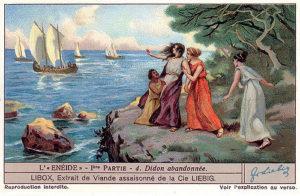 Aeneas abandons Dido.