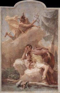Mercury Appearing to Aeneas (Giovanni Battista Tiepolo - 1757)