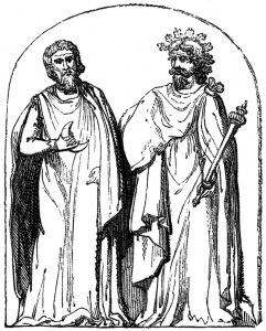Two Druids, 19th-century engraving based on a 1719 illustration by Bernard de Montfaucon