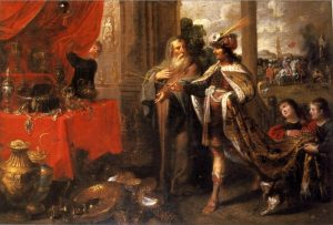 Croesus showing his treasures to Solon, by  Frans Francken the Younger (1581–1642)