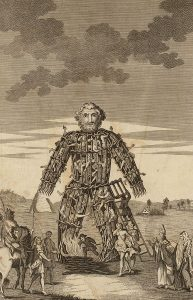 The Wicker man of the Druids, from A tour in Wales by Thomas Pennant (1726-1798)