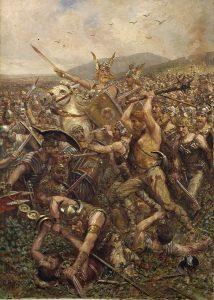 Battle of Teutoburg Forest, by Otto Albert Koch (1909).
