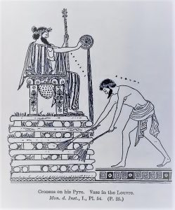 Croesus on his pyre